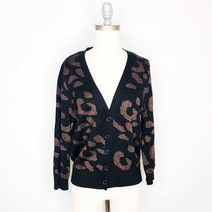 ✨Takeout Leopard Print Cardigan sz L